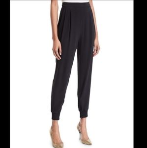 Eileen Fisher Silk Pull-On Jogger Ankle Zip Pant!